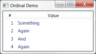 How to Display Row Numbers in WPF ListView Control with